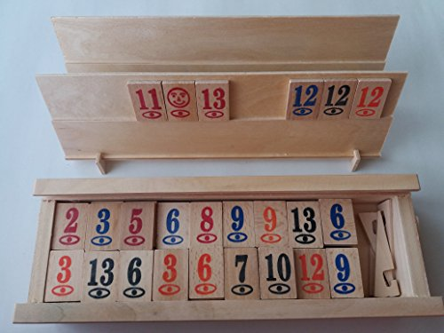 Nuevo completo de madera rummikub rummy juego de juego de los niños de estrategia de juego de familia juego de mesa en el cuadro de regalo para los niños los niños de los hombres