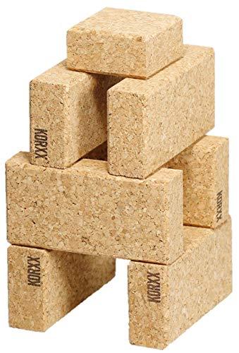 KORXX Cuboid Starter 19 Bausteine aus Kork, naturbraun
