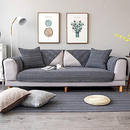 XM&LZ Gesteppte Schnitt Sofahusse,Weich Sofabezug Sitz Kissenhülle,Anti-Slip Reversible Sofa Überwürfe Armlehne Rückenlehne Abdeckung-B 90x120cm/35x47inch Rechteckig
