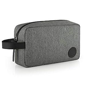 GAGAKU Hombre Dopp Kit Impermeable Neceser Bolsa de Aseo Neceser de Viaje Bolsa de Cosmético – Gris
