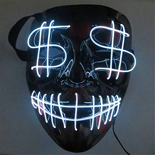XUEE Halloween masker LED verlichting maskers festival party cosplay Halloween masker