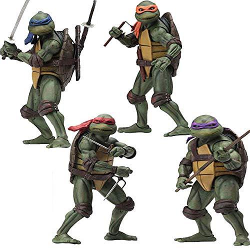 ZHAOHUIFANG Ninja Turtle Modell Statue 1990 Film-Ausgabe Vollen Satz Von 4 Modelle 18cm Hoch E