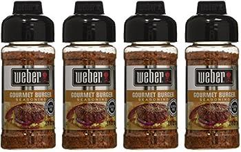 Weber Seasoning - Gourmet Burger - Net Wt 2.75 OZ  78 g  Per Bottle - Pack of 4 Bottles