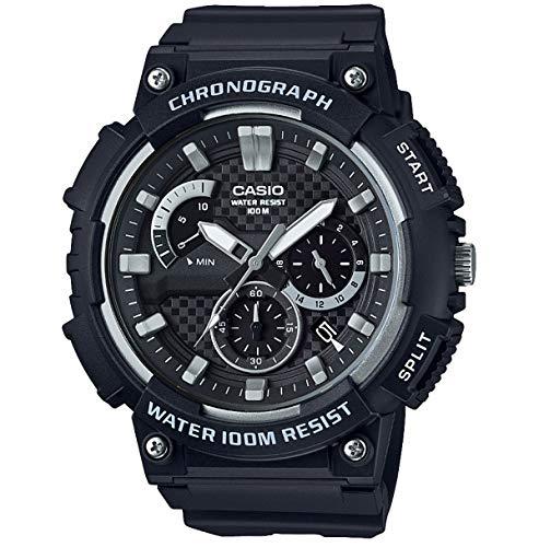 Casio Reloj Analogico para Hombre de Cuarzo con Correa en Acero Inoxidable sólido MCW-200H-1AVEF