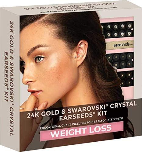 Ear Seeds Weight Loss 24K Swarovski Crystal EarSeeds Kit 40 Pcs 24K Gold 20 Pcs with Swarovski product image