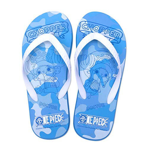 EDMKO Chanclas Antideslizante Flip Flops Sandalias Zapatos De Playa Y Piscina Unisex Adulto One Piece 3D Estampado Dibujos Anime Tony Tony Chopper Pantuflas Playa Slippers,UK 3~4.5/EU 36~37(245)