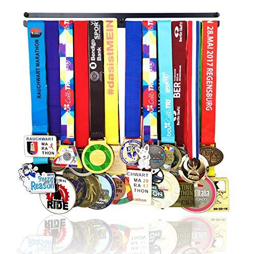 Lapetale Fashion Race Medaillenhalter für Läufer, Gymnastik, Fußball, Pokal, Medaillenhalter, Medaillenhalter in Schwarz, 3 Packungen