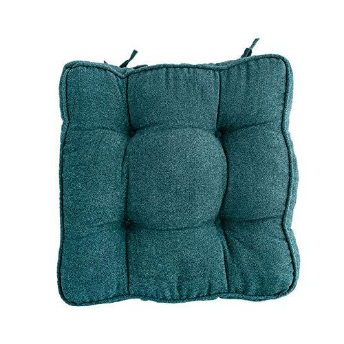 WZLJW Soft Plush Sofá Cushion Butaca Pads Booster Cushion Thick Cotton Mat Seat Easy Care,Cojín De Asiento Cuadrado-Azul 45x45cm
