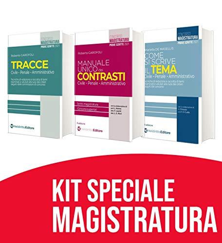 Kit Speciale Magistratura: Manuale Unico dei Contrasti 2021 +tracce 2021 + Come si scrive Il tema 2021