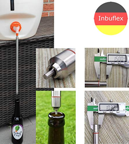 Inbuflex Bier Abfüllröhrchen für Flaschen.