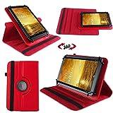 UC-Express Schutz Tasche für Asus MeMo Pad 7 ME572C ME572CL Hülle Tablet Schutzhülle Cover, Farben:Rot