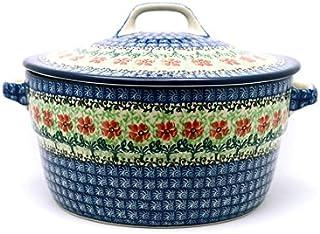 Polish Pottery Baker - Round Covered Casserole - Maraschino