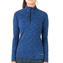 H.MILES Women Thermal Long Sleeve Running Top 1/4 Zip Winter Workout Ladies Hoody