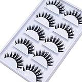 Veleasha 5D Faux Mink Lashes Handmade Luxurious Volume Fluffy Natural False Eyelashes 5 Pairs   Princess