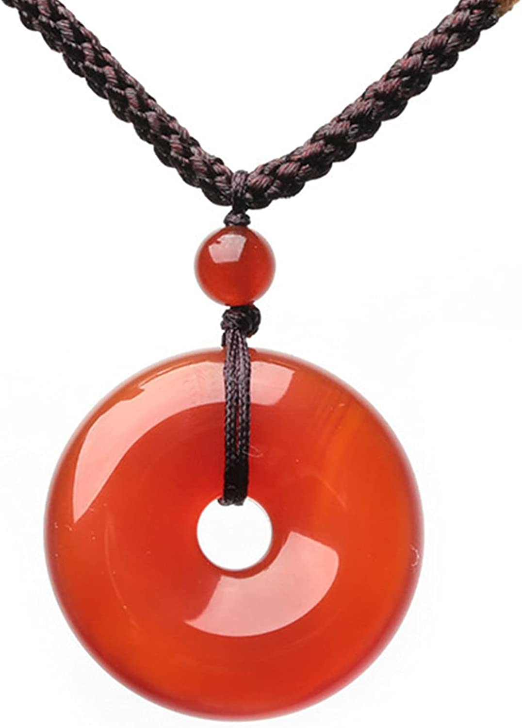 Super beauty product restock quality top! nakido Carnelian Crystal half Necklace Pendant Good Luck