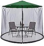 KDOAE Mosquito de Sombrilla de jardín Jardín Parasol Net Garden MOSQ-UITO Cubierta UMBRALLA MOSQ-UITO Net Anti Mosq-Uito para Camping al Aire Libre Interior para Acampar en el Jardín al Aire Libre