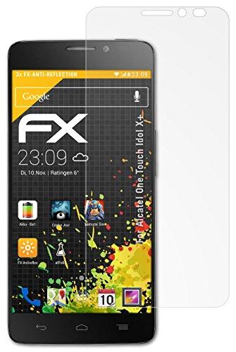 atFolix Panzerfolie kompatibel mit Alcatel One Touch Idol X+ Schutzfolie, entspiegelnde & stoßdämpfende FX Folie (3X)