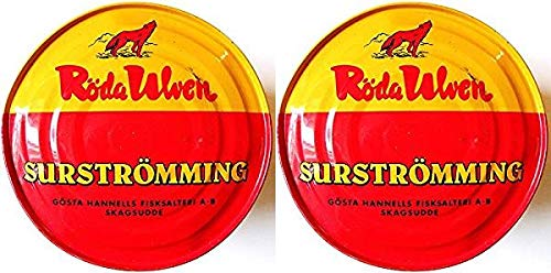 2 x Röda Ulven Surströmming 400g / 300g Fisch Dose (fermentierte Heringe)