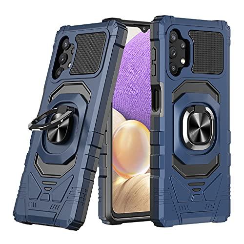 Lavender1 Funda para Samsung Galaxy A32 5G, funda para teléfono móvil Armor con anillo de 360 grados, soporte militar, antigolpes, magnética, carcasa compatible con Samsung A32 5G, azul, Talla única