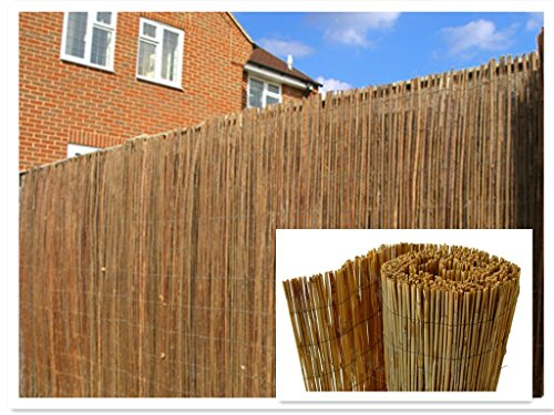 DREAMS VILLA Natural Peeled Reed Screening Roll Garden Screen Fence Fencing Panel 4m (1m x 4m)