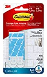 Command Bath Replacement Strips, 2-Medium and 4-Large Water-Resistant Adhesive Strips, Re-Hang Bath Hooks or Caddies