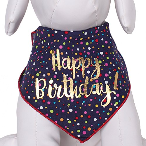 Tail Trends Happy Birthday Unisex Dog Bandana