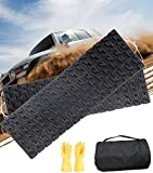 TARKII Tire Traction Mats, Two 39.3 Inch Portable Emergency Caterpillar Bands to Get Your Vehicles Unstuck in Snow, Mud and Sand