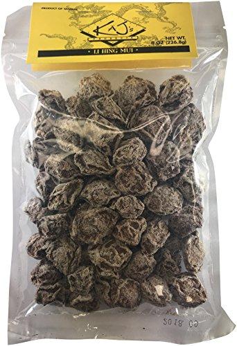 Kaj's Sweet White Dried Plums (8 oz.) Li Hing Mui Hawaiian Fruit Snack | Preserved, Delicious