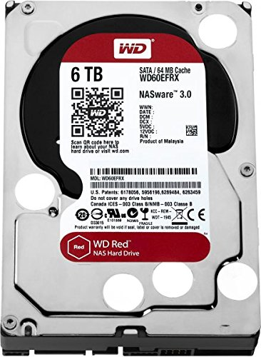 HD 3,5 6TB WD SATA RED NAS INTELLI POWER 64MB 6GB/S NAS STORAGE