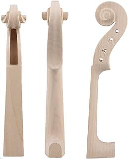 Yibuy Hand Carved Maple Violin Neck for DIY 4/4 Size Violin Luthier