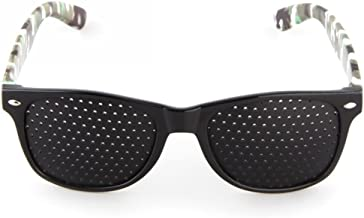 per riposare la vista Ganzoo con aste pieghevoli lenti forate Occhiali traforati per rilassarsi