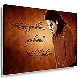 Michael Jackson Leinwandbild / LaraArt Bilder / SchwarzWeiß + Kunstdruck m11 Wandbild 60 x 40 cm