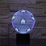 DROIT AU BUT Night Light 3D Illusion Table Lamp Nightlight 7 Color Changing