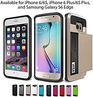Samsung Galaxy S6 Edge -Eagle Door Wallet case for ID's and Credit Cards/Anti Scratch,Heavy Duty,Shockproof, Hybrid Material for Ultimate Protection! (Black)