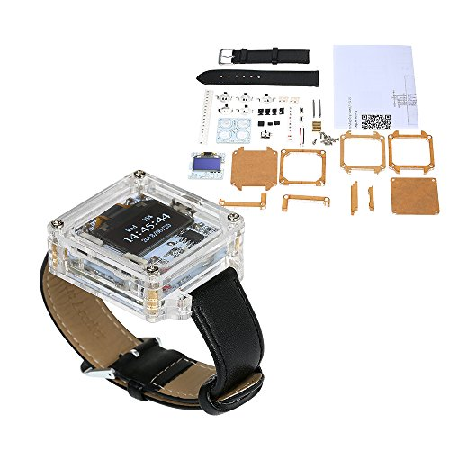 KKmoon SCM Kit di Oscilloscopio Digitale Transparent LED Watch DIY Digital Orologio da Polso Elettronico Orologio Kit Fai da te