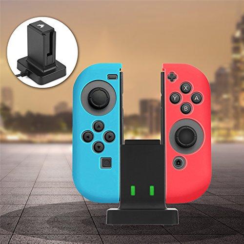 Eboxer Mini Charging Dock Estación de Carga USB y Soporte de Carga con Indicador LED Individual para el Conmutador de Nintendo Switch