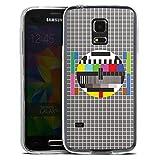 Coque Slim Compatible avec Samsung Galaxy S5 Mini Coque Ultra Fine Coque en Silicone Ultra Fine Image Télé Dysfonctionnement Dérangement Test Couleur De L'Écran