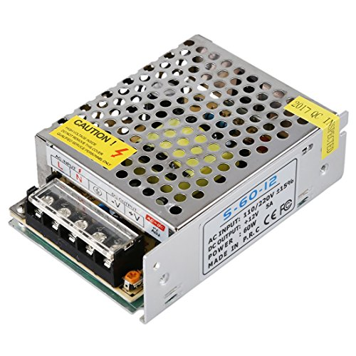 Xingyue Aile buitenverlichting & speelparaties mini universele regelbare schakelvoeding elektronische transformator uitgang DC 12 V 5 A 60 Watt ingang AC 110 V / 220 V (klein)