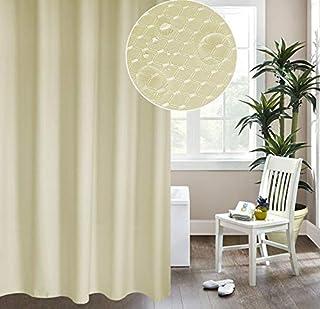 Rubik Premium Shower Curtain Waterproof Thickened Polyester Fabric Durable Mildew Stain Resistant Stylish Curtain (Cream, ...