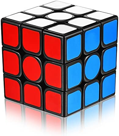 Speed Cube 3x3x3 with New Anti-POP Structure Smooth Puzzle Cube for Professional Players (Sticker)