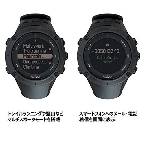 SUUNTO スント スント SUUNTO 腕時計 アンビット3 ピーク ブラック 10気圧防水 GPS 気圧 高度 方位 速度 距離計測 SS020677000