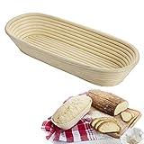 Westmark Banneton pour 1500-2000g Pâte à Pain, Rotin, Beige clair, Longueur: 40 cm