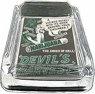 Vintage Poster The Devil's Harvest Marijuana S302 Glass Square Ashtray 4