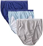 Top Choice for Material: Hanes Women's Cotton Hi Cut Panty Multipack