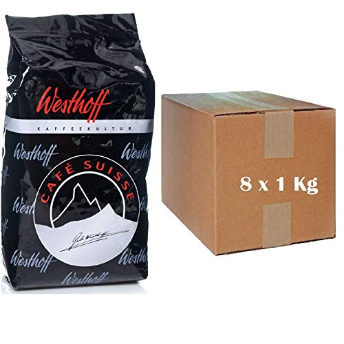 Westhoff Cafe Suisse 8 x 1Kg ganze Kaffee-Bohne