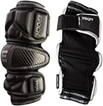 Epoch Integra Lacrosse Arm Pads for Attackmen and Middie with Dual Density Foam, Large, Black