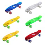 Maronad transparent Retro Skateboard LED klarer leuchtrollen ABEC 7 - 8