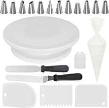 Kootek All-In-One Cake Decorating Kit Supplies with Revolving Cake Turntable, 12 Cake..