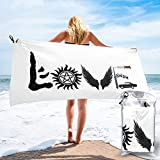 Efbcy Love Supernatural Microfiber Beach Towel Quick Dry Bath Towels