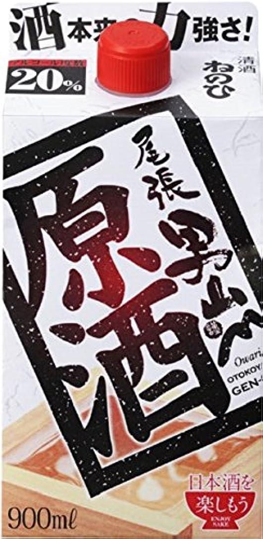 野な悩み葉っぱ盛田 尾張 男山 原酒 パック [ 日本酒 愛知県 900ml ]